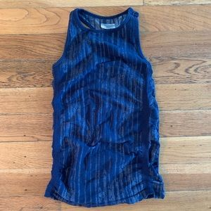 Athleta Pure Tank in Ikat Navy